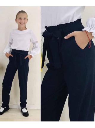 Школьные штаны в мелкую клетку на девочку