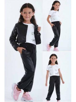 Джоггери на дівчинку з екошкіри