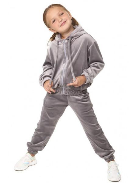 Дитячий велюровий костюм на дівчинку