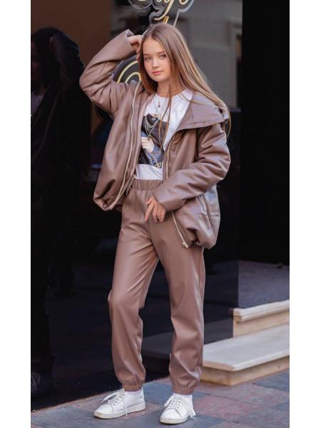 Куртка подростковая демисезонная (экокожа)