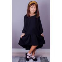Стильное детское платье с воланом