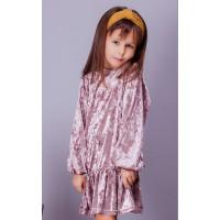 Дитяче оксамитове плаття із довгим рукавом для дівчинки