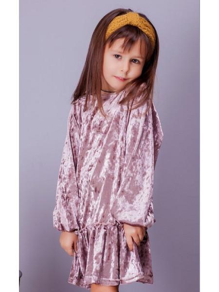 Детское бархатное платье с длинным рукавом для девочки